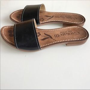 Cantarelli Black Made In Italy Slip On Sandals 6